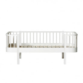 Lit banquette junior 90 x 160 cm Wood - Blanc