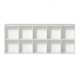 Etagère Wood 5 x 2 Blanc Oliver Furniture
