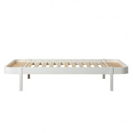 Lit Wood Lounger 120 x 200 - Blanc
