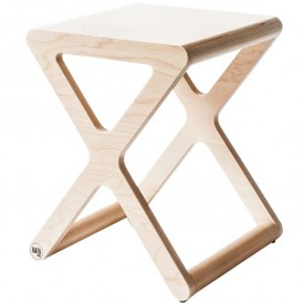 Tabouret X - Naturel
