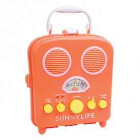 Enceinte radio portative - Orange papaye