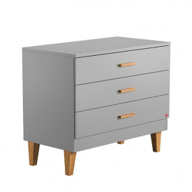Commode 3 tiroirs Lounge - Gris Clair