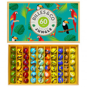 Coffret de 60 billes - Jungle Bleu