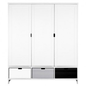 Armoire 3 portes Mix & Match - Blanc