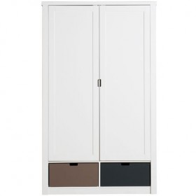 Armoire 2 portes Luxe Mix & Match - Blanc