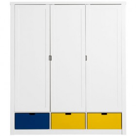 Armoire 3 portes Luxe Mix & Match - Blanc