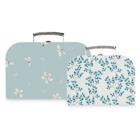 Set de 2 valises - Windflower Bleu / Fiori