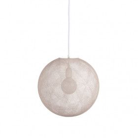 Suspension Globe Light - M - Ecru