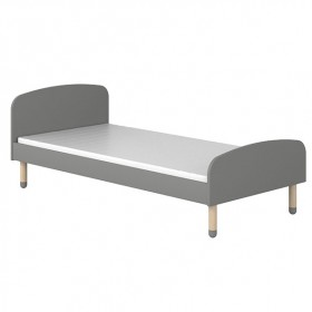 Lit simple PLAY 90 x 200 - Gris