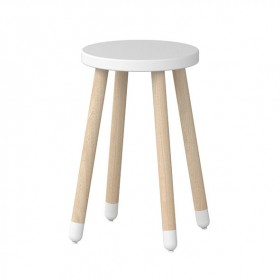 Tabouret / Table d'appoint PLAY - Blanc