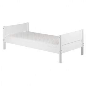 Lit simple White 90 x 200 cm - Blanc