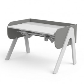 Bureau Inclinable WOODY - Blanc / Gris
