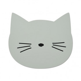 Set de table silicone Chat - Menthe