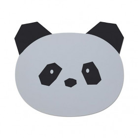 Set de table silicone Panda - Gris