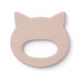 Jouet de dentition silicone Chat - Rose