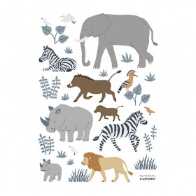 Planche de Stickers (A3) - Animaux de la Jungle