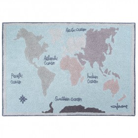 Tapis Back to School 140 x 200 cm - Carte Vintage
