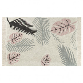 Tapis Plantes 140 x 200 cm - Tropical Rose