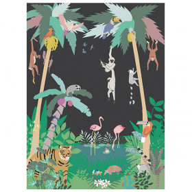 Fresque de Papier Peint - Jungle Noir
