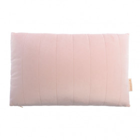Coussin Rectangulaire Velours Akamba - Rose Pâle