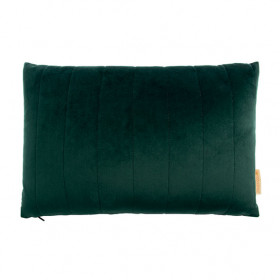 Coussin Rectangulaire Velours Akamba - Vert Jungle