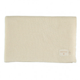 Couverture en tricot So Natural - Ecru
