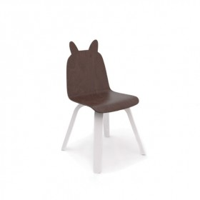 Chaises Play Lapin - Noyer - Lot de 2