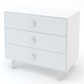 Commode Merlin 3 tiroirs - Classic - Blanc