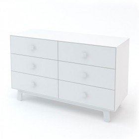 Commode Merlin 6 tiroirs - Sparrow - Blanc
