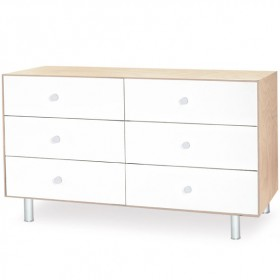 Commode Merlin 6 tiroirs - Classic - Bouleau