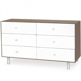 Commode Merlin Classic 6 tiroirs - Noyer