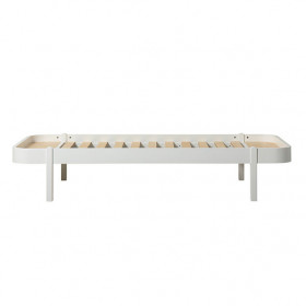 Lit Wood Lounger 90 x 200 - Blanc