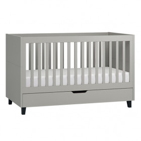 Lit Bébé 70 x 140 cm Simple - Gris