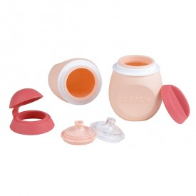 Set BabySqueez 2 en 1 & Squeez' Portion - Rose Rose Béaba