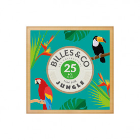 Coffret de 25 billes - Jungle Multicolore Billes and Co