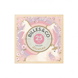 Coffret de 25 billes - Licorne Multicolore Billes and Co