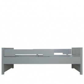 Lit Jonne 90 x 200 cm Mix & Match - Pure Grey Gris Bopita