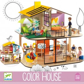 Maison de Poupées Color House Multicolore Djeco