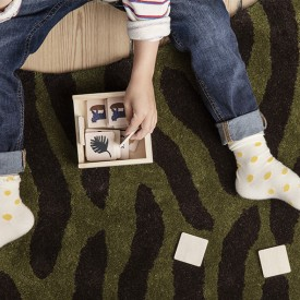 Memory en bois Safari Multicolore Ferm Living Kids