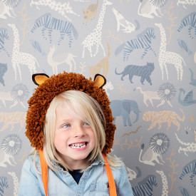 Papier Peint Safari Multicolore Ferm Living Kids