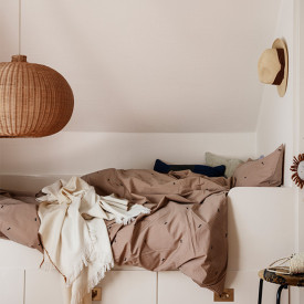 Suspension Ronde en Osier Naturel Ferm Living Kids