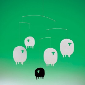 Mobile Moutons Blanc Flensted