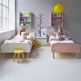 Lit simple PLAY 90 x 200 - Jaune Jaune Flexa