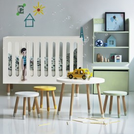 Petite table PLAY - Blanc Blanc Flexa