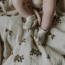 Chaussons naissance - Sable Beige Garbo and Friends
