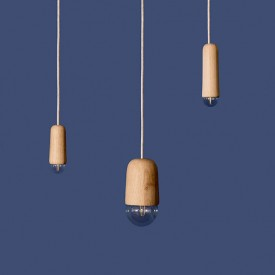 Suspension Luce Small - Chêne naturel Naturel Hartô