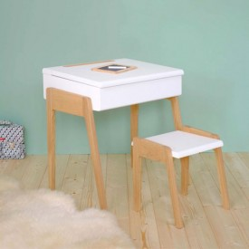 Tabouret My Little Pupitre - Blanc Blanc Jungle by Jungle