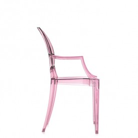 Chaise Lou Lou Ghost Rose Rose Kartell