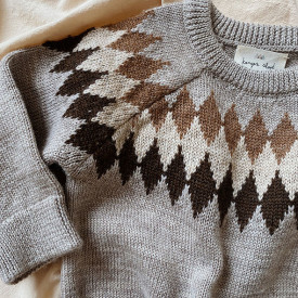 Pull Milly Jacquard Marron / Taupe Konges Sløjd