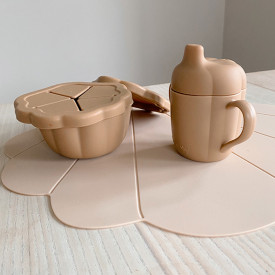 Set de table silicone Coquillage - Coquille Beige Konges Sløjd